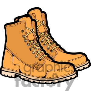 Royalty Free Mens Work Boots In Color Clipart Image Picture Art