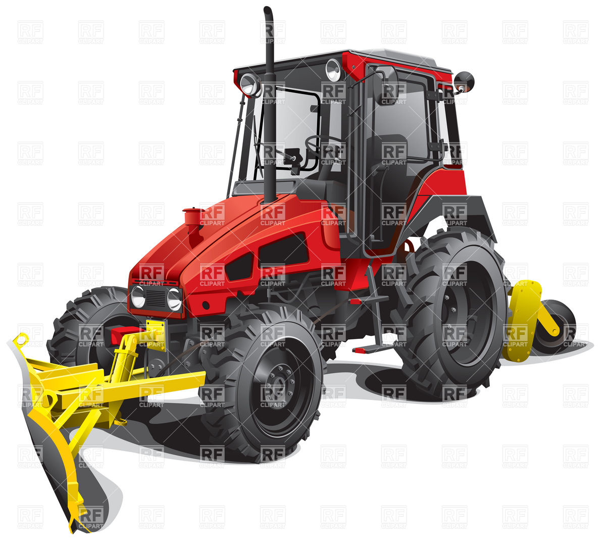 Snow Plow Tractor 6244 Transportation Download Royalty Free Vector