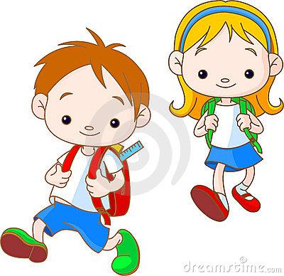 Going To School Cartoon Clipart - Clipart Kid