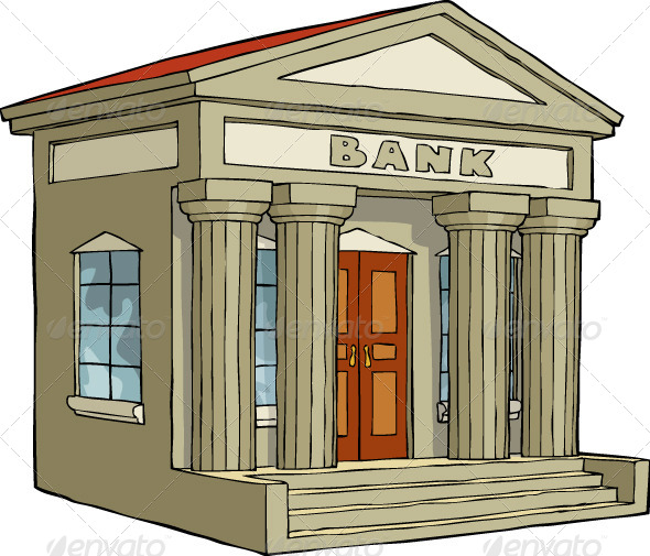 Image result for bank cartoon