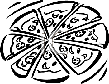Clip Art Pizza Clipart Black And White pizza black and white clipart kid picture of a pepperoni foodclipart com