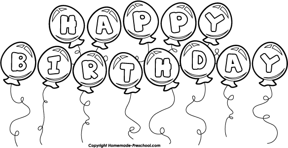 Clip Art Birthday Clip Art Black And White happy birthday black and white clipart kid balloons balloon bunch white