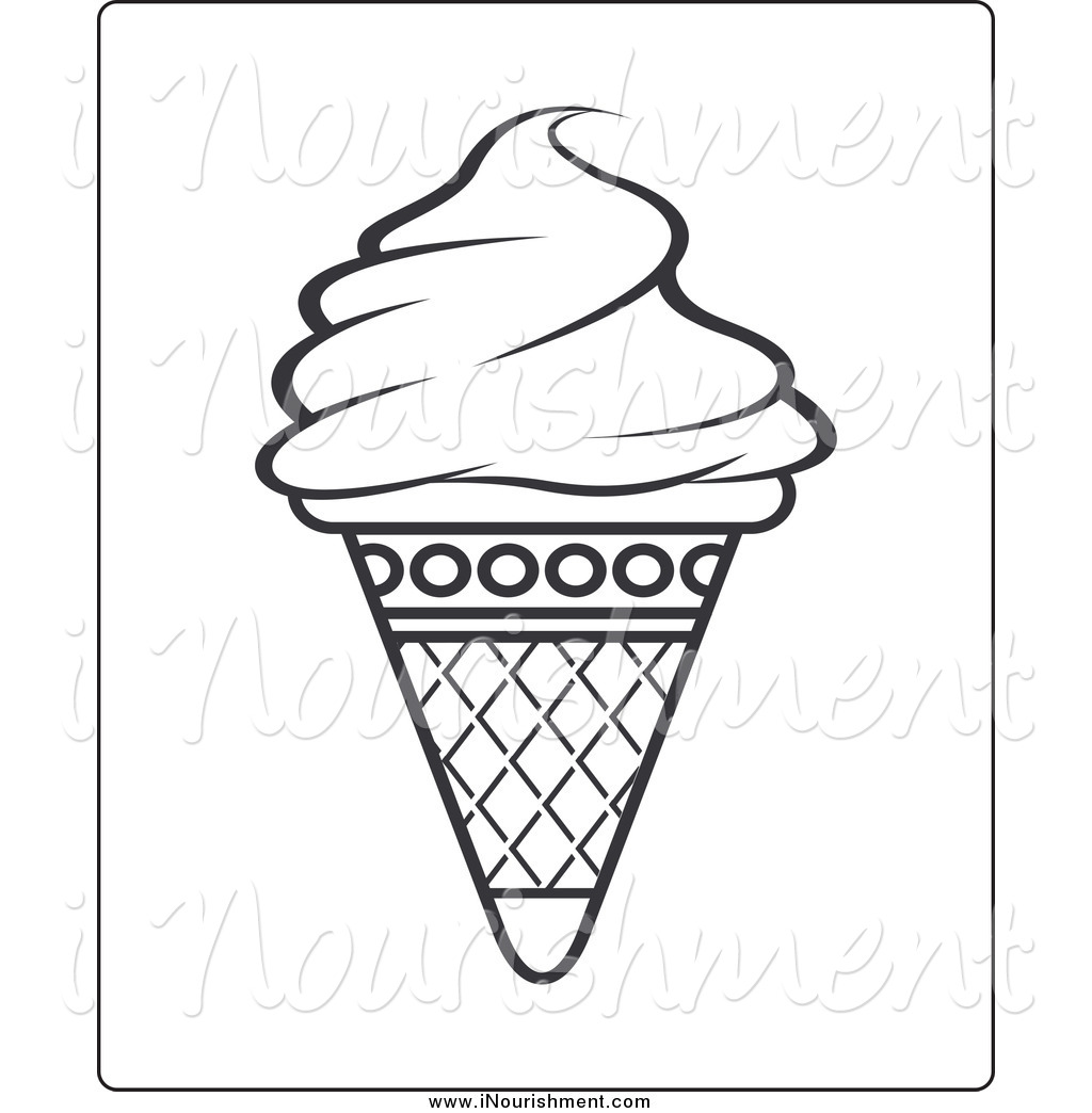 ice cream clip art black and white - photo #36