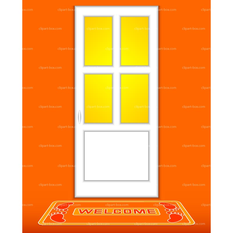 Clipart Closed Door   Royalty Free Vector Design