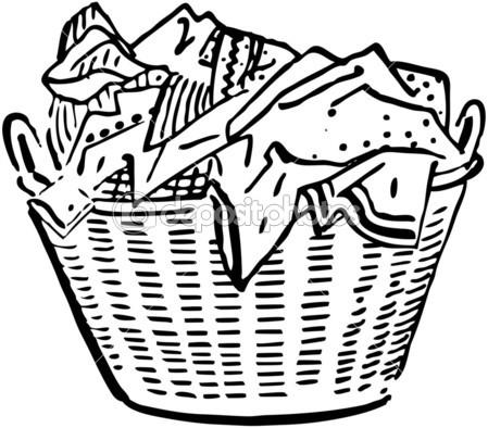 Empty Laundry Basket Clip Art