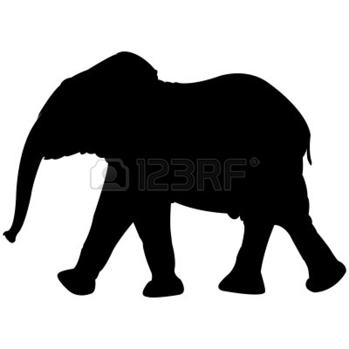 Elephant Clipart Silhouette 6438149 Baby Elephant Silhouette Isolated