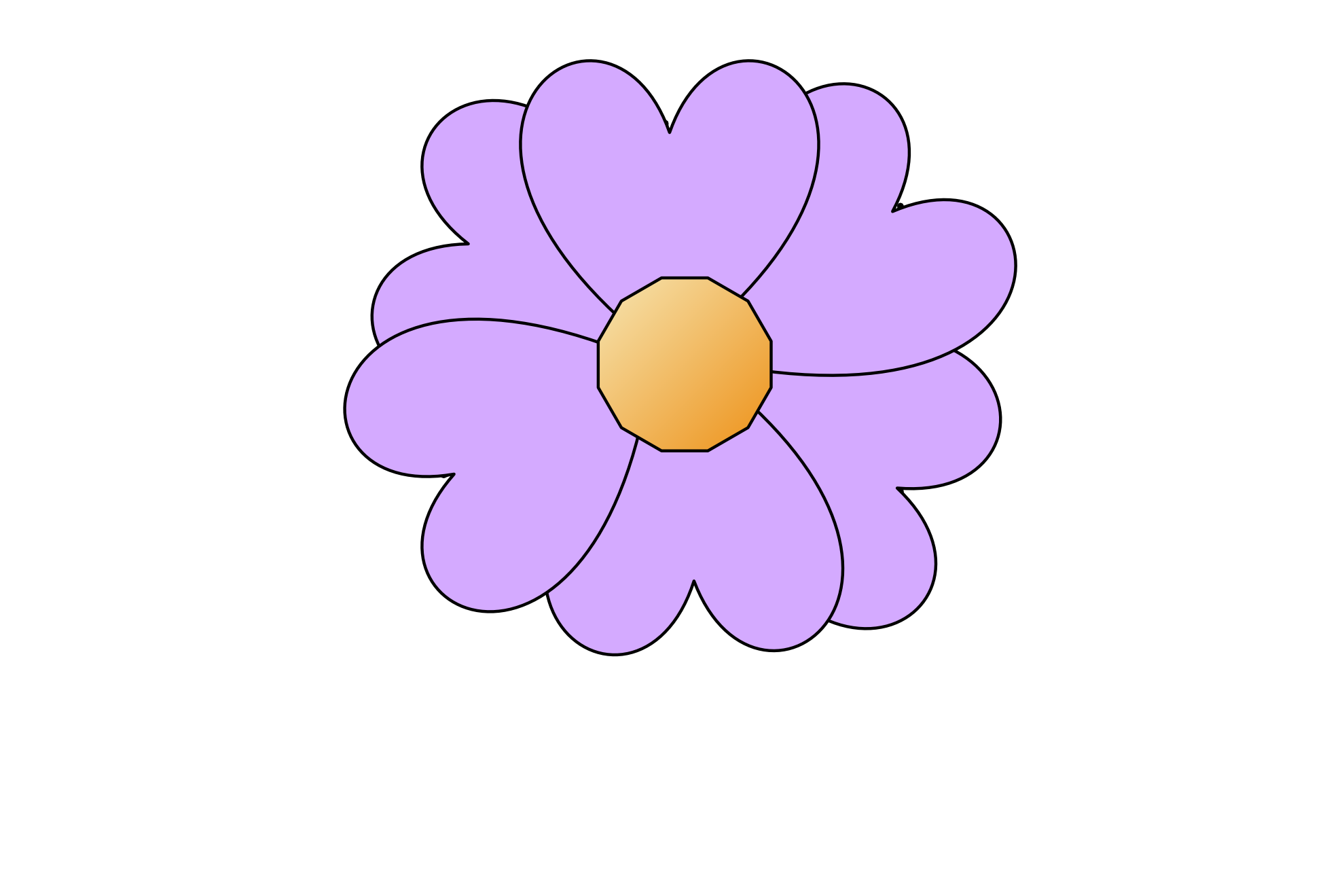 Flower Simple Purple Png 12 K  Flower Simple Purple 555px Png 22 K