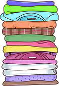 Folded Laundry Clipart Folded Clothes