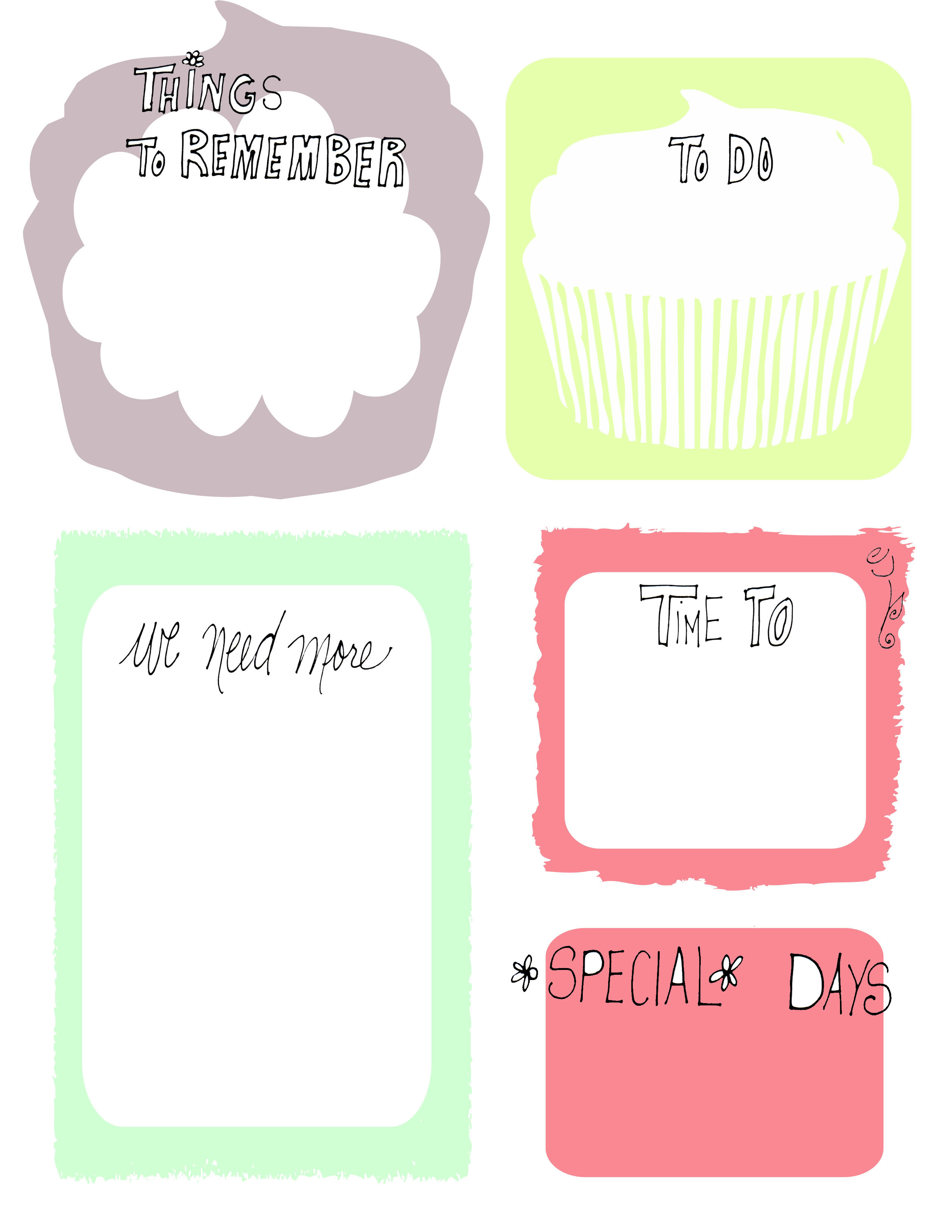 Found This Awesome Cupcake To Do List Via Pintrest The Flying