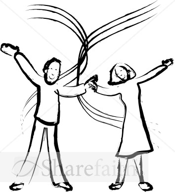 Joyful Married Couple Image   Church People Clipart