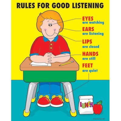 Image Gallery listen to teacher