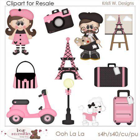 Ooh La La Clipart For Resale   Scrabooking Ideas 2   Pinterest