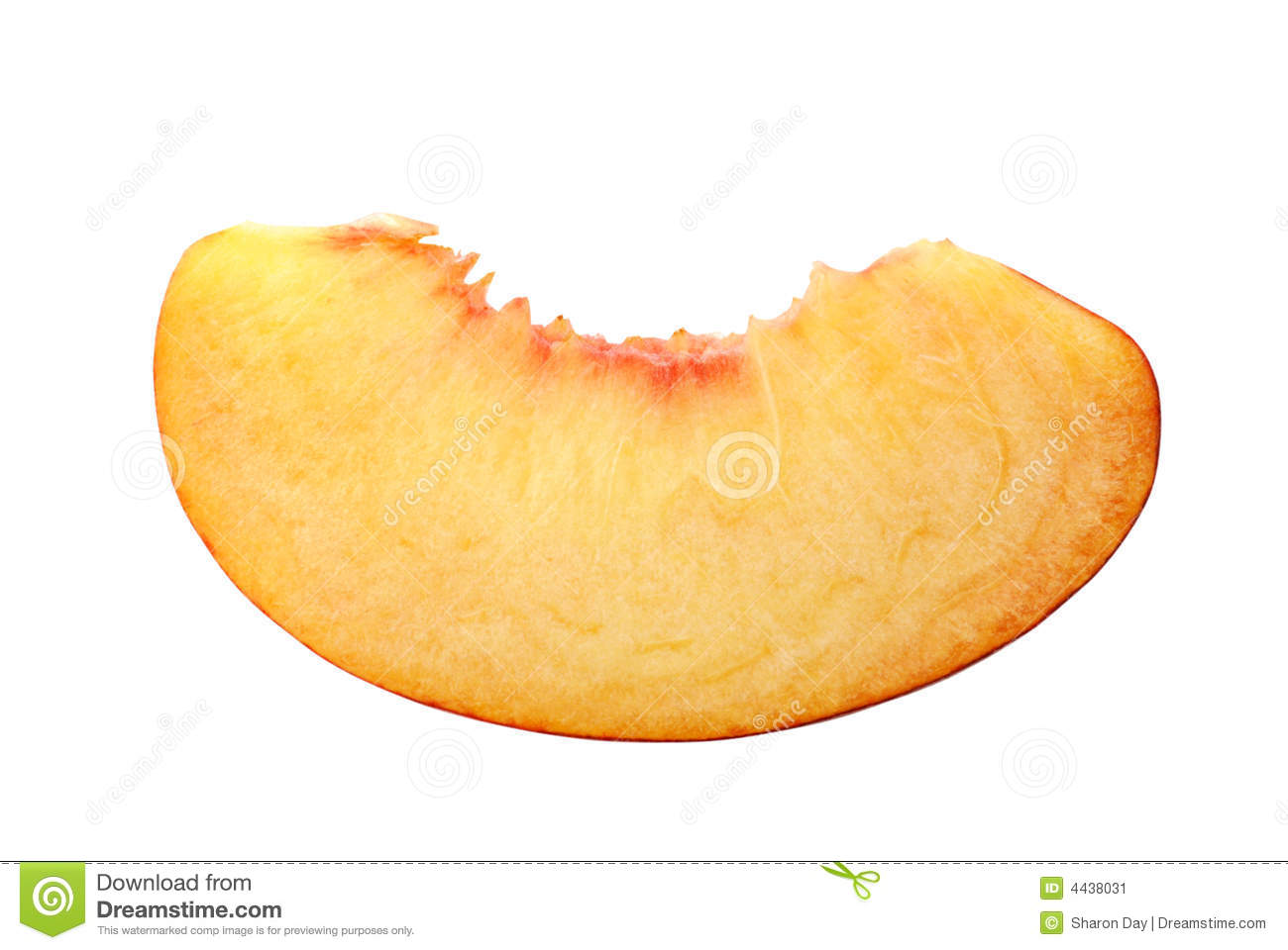 Peach Slice Stock Image   Image  4438031