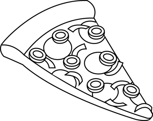 Pizza Clipart Black And White   Clipart Panda   Free Clipart Images