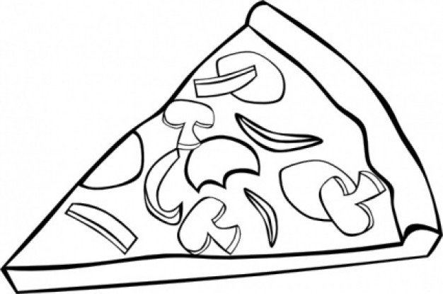 Pizza Clipart Black And White Pizza Slice Clipart Black And White Jpg