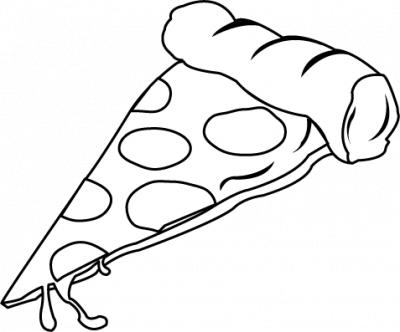 Pizza Slice Clipart Black And White 78 Pizzaslice Png