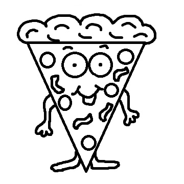 Pizza Slice Clipart Black And White   Clipart Panda   Free Clipart