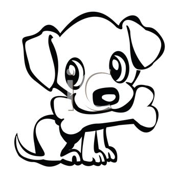 Clip Art Cute Puppy Clipart cute puppy easy clipart kid 0511 1012 3014 1315 little with a bone in his