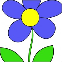 Related Searches For Simple Flower Clip Art
