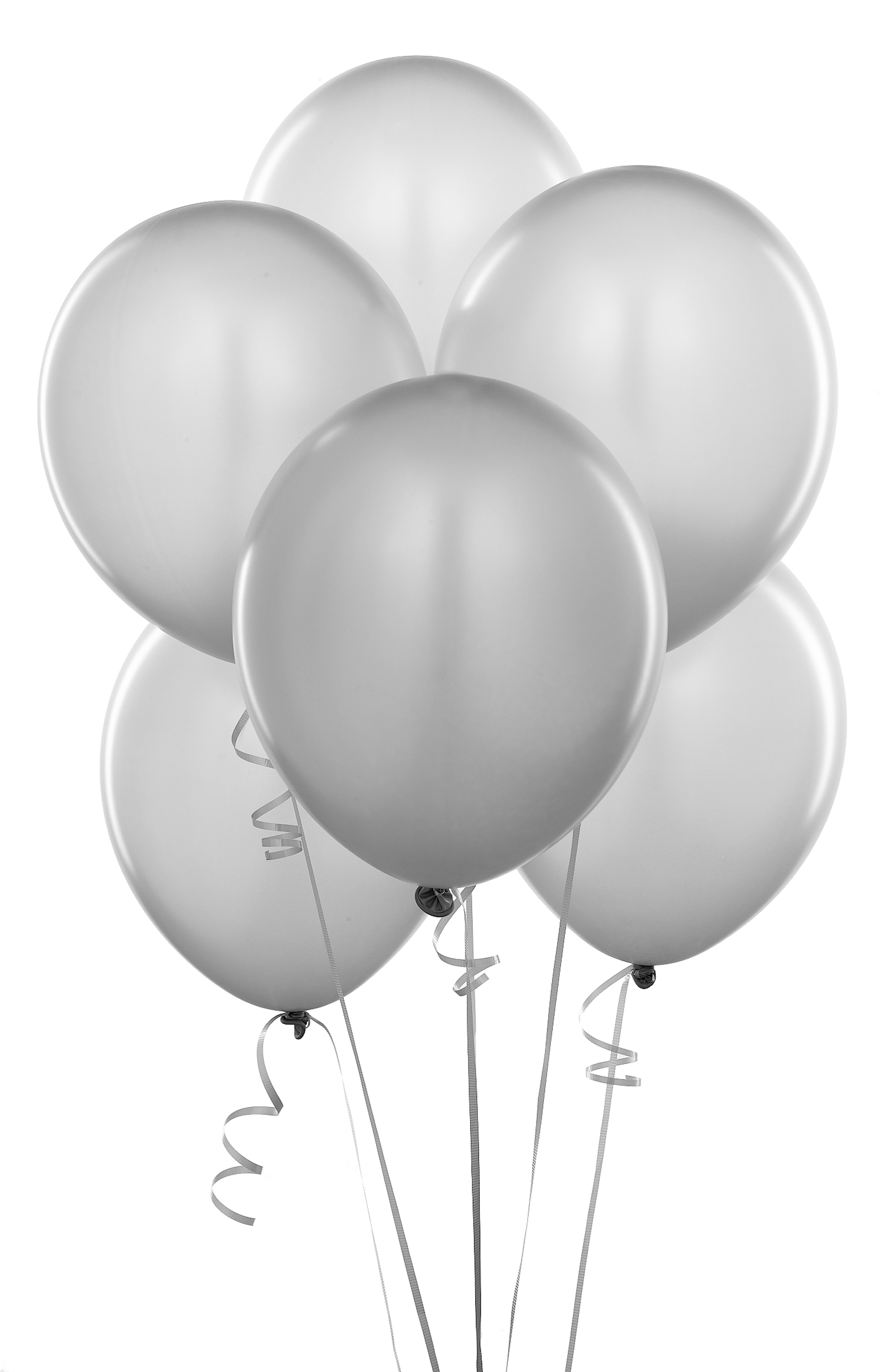 silver balloons clipart