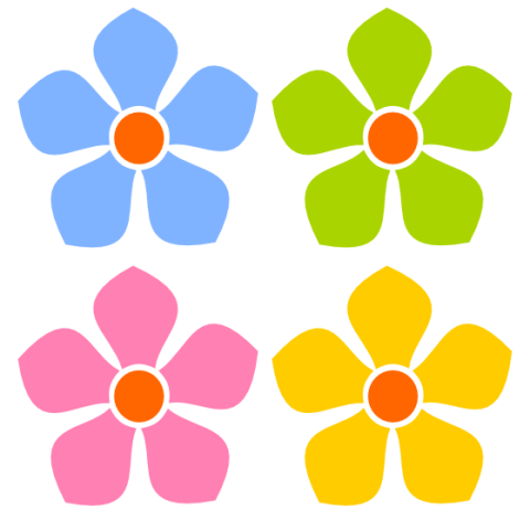 Simple Flower Clip Art   Item 4   Vector Magz   Free Download Vector