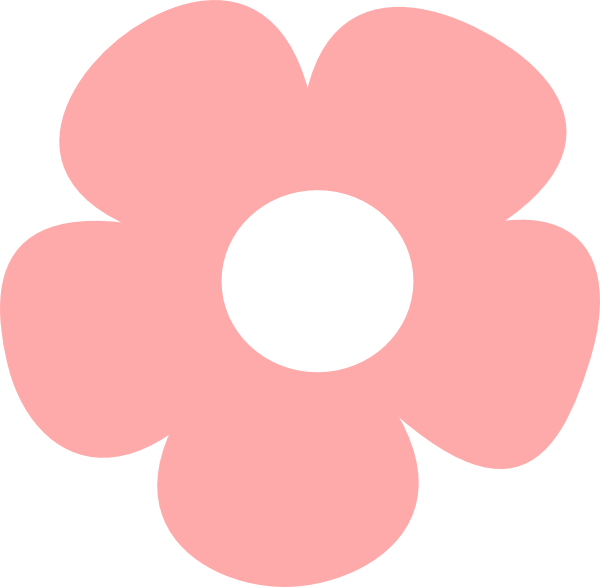 Simple Pink Flower Clip Art   Vector Clip Art Online Royalty Free