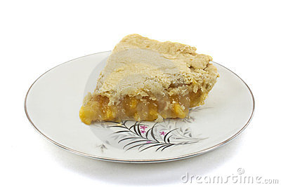 Slice Of Homemade Peach Pie Stock Photo   Image  23695880