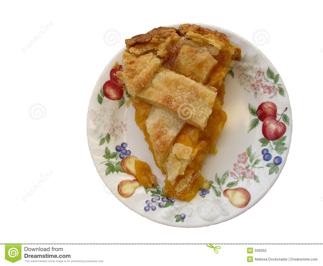 Slice Of Peach Pie Royalty Free Stock Photo   Image  599355