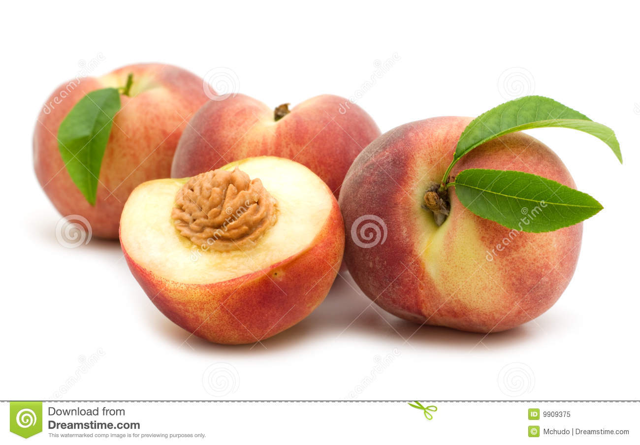Slice Peach Royalty Free Stock Photo   Image  9909375