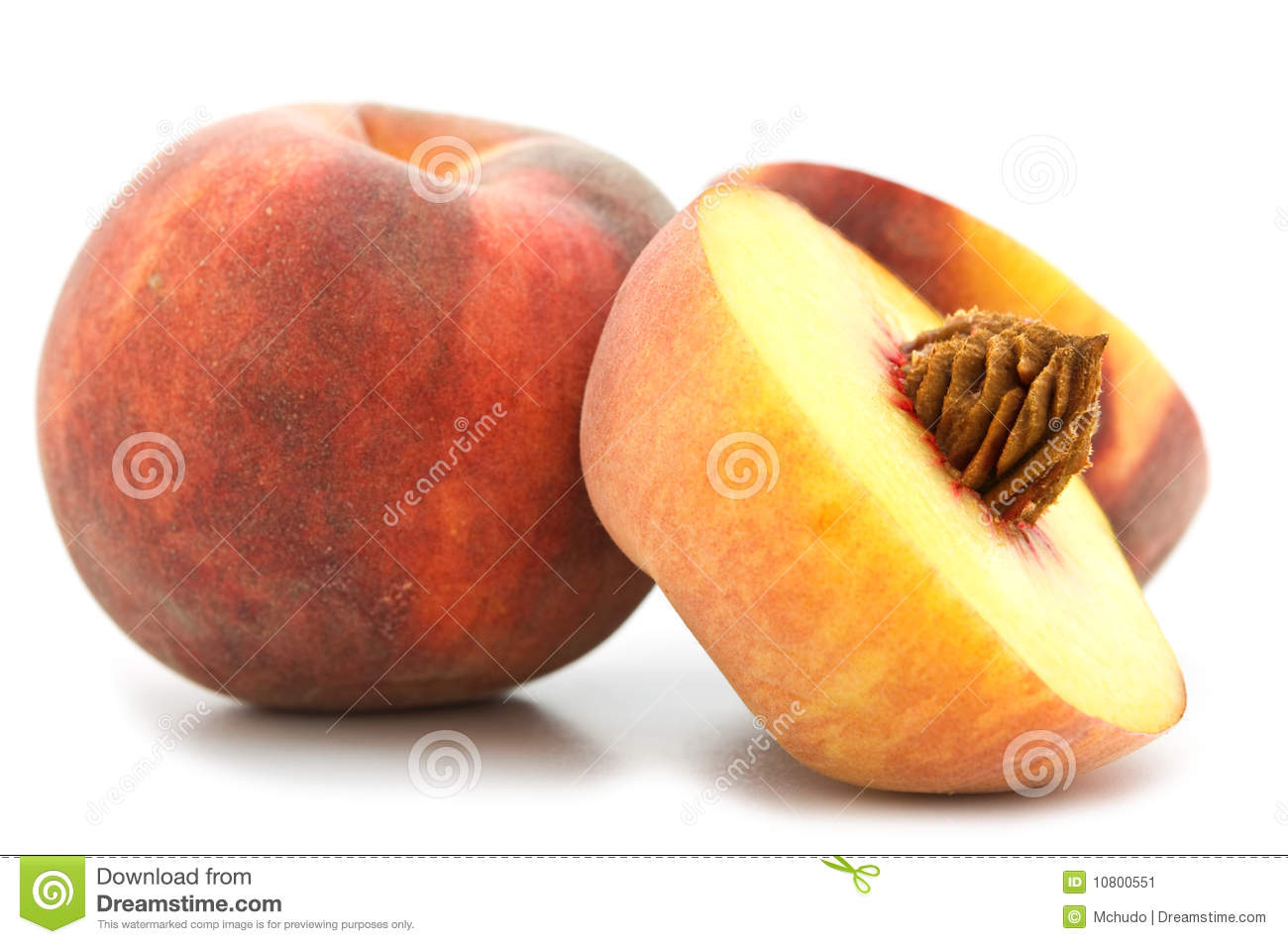 Slice Peach Stock Image   Image  10800551