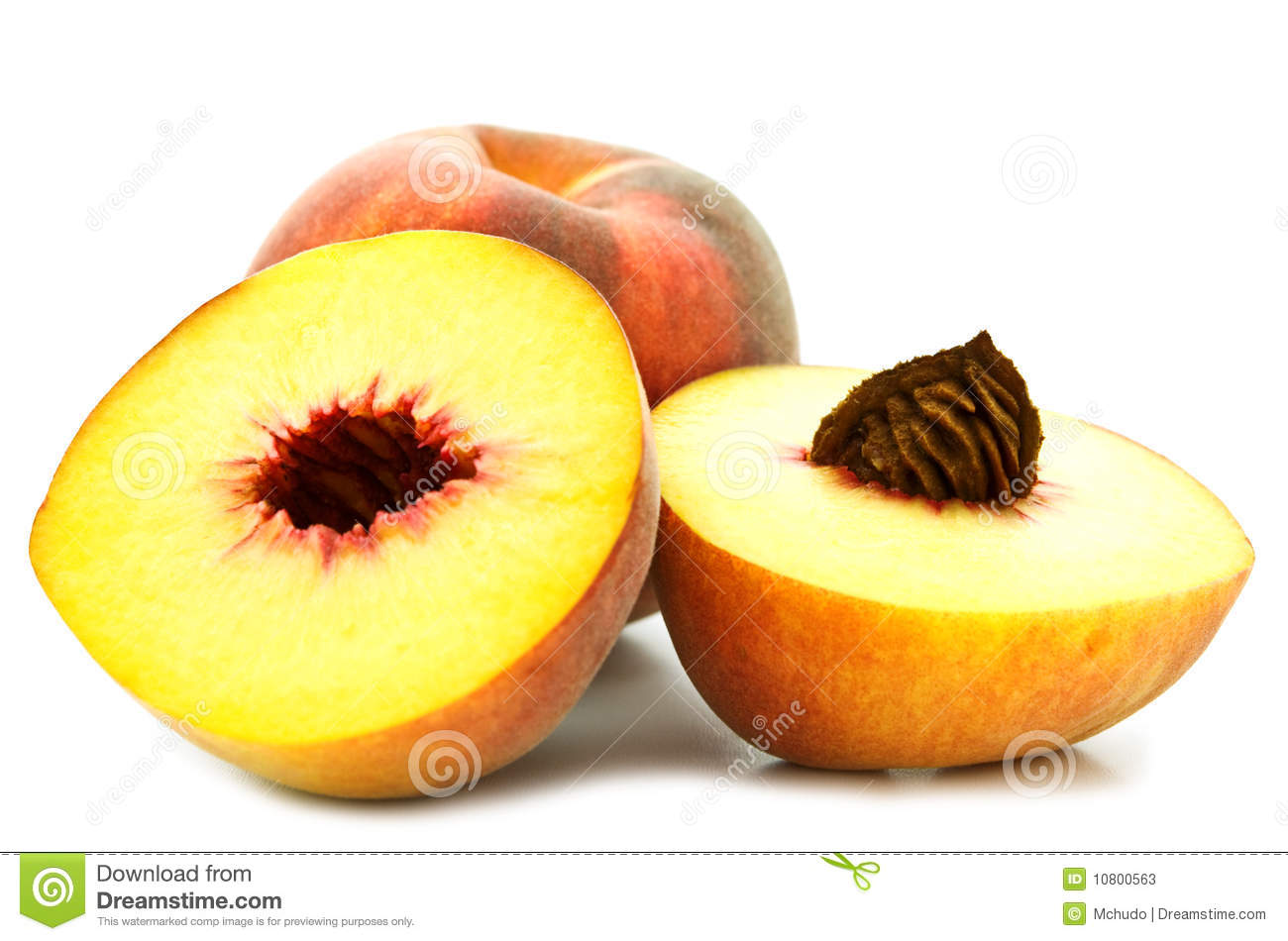 Slice Peach Stock Photos   Image  10800563
