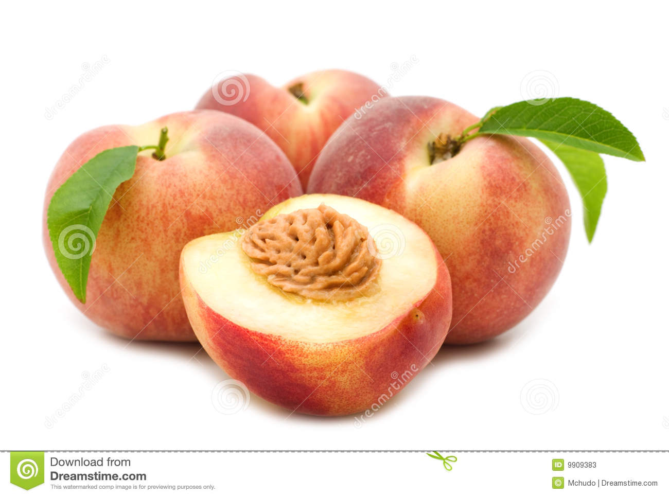 Slice Peach Stock Photos   Image  9909383