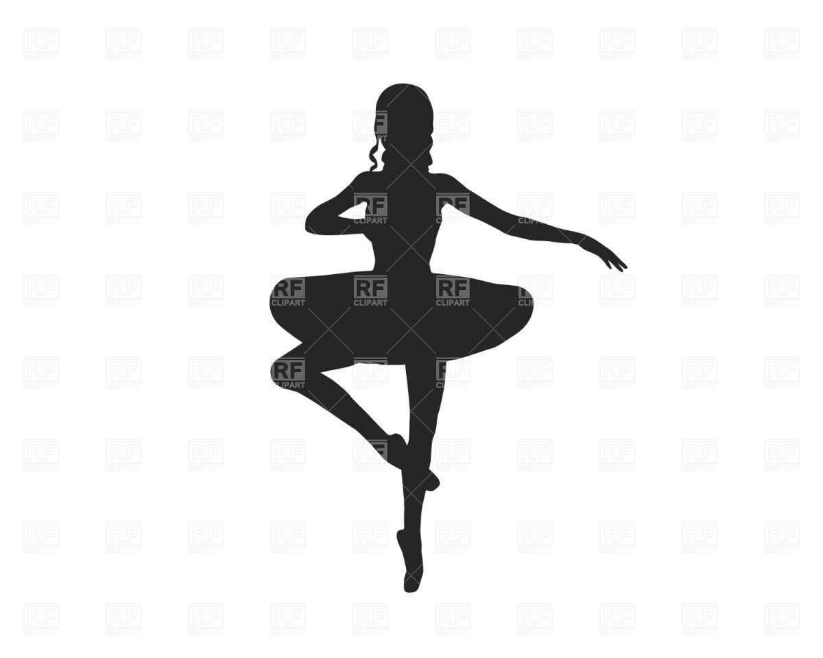 Ballerina Silhouette Download Free Vector Clipart  Eps