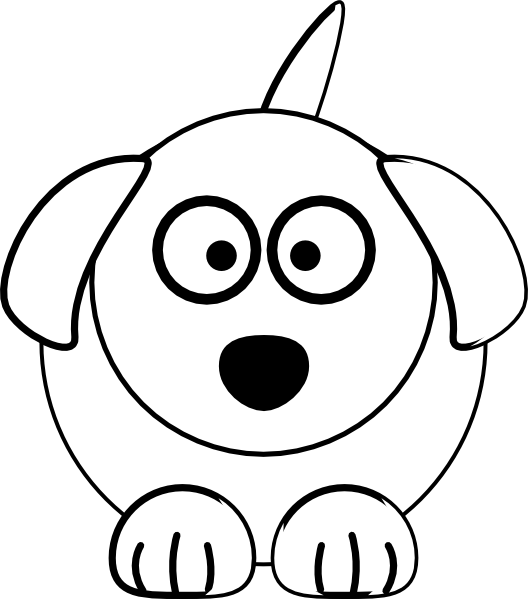 Black And White Dog Clip Art At Clker Com   Vector Clip Art Online