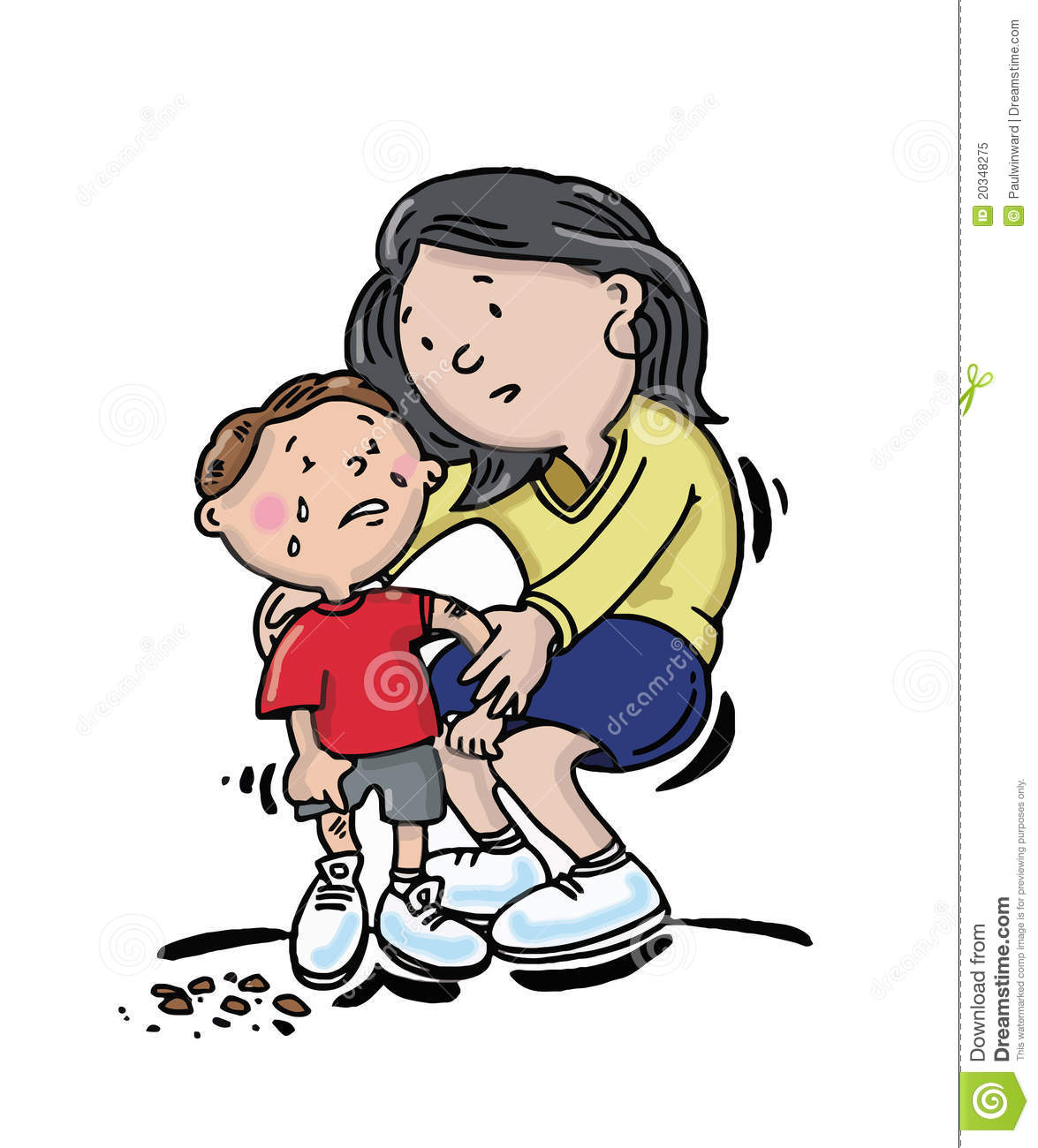 Child With Sore Knee Royalty Free Stock Photo   Image  20348275