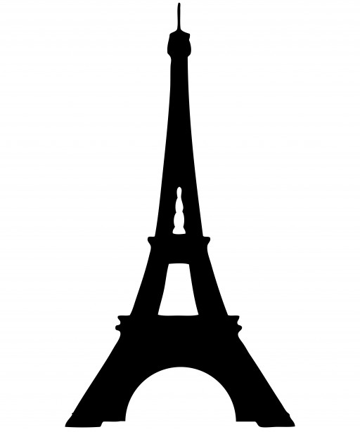 Eiffel Tower Silhouette Clipart Free Stock Photo   Public Domain
