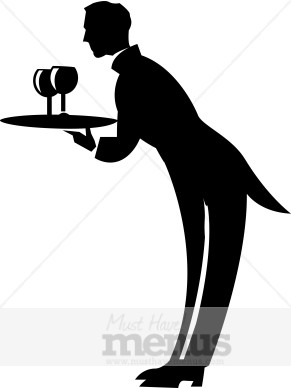 Formal Waiter Clipart