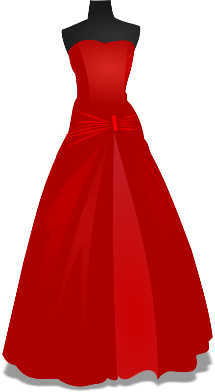Gown By Wakro   A Red Gown Over A Mannequin For A Wedding
