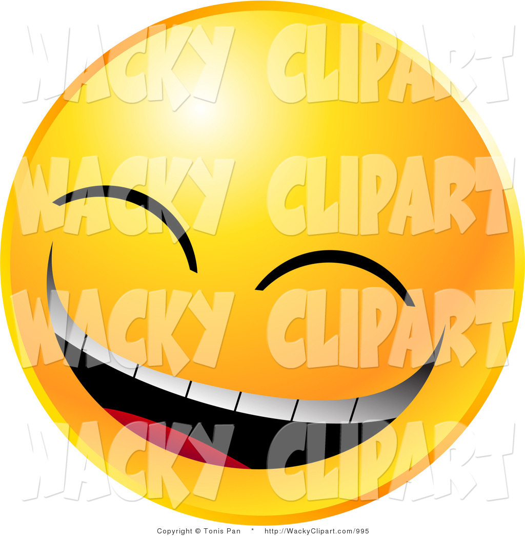Laugh Face Clip Art Vector Clipart Of A