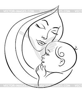 Black And White Mother Clipart - Clipart Suggest