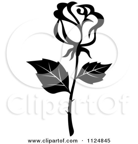 Rose Bouquet Clip Art Black And White 1124845 Black And White Rose