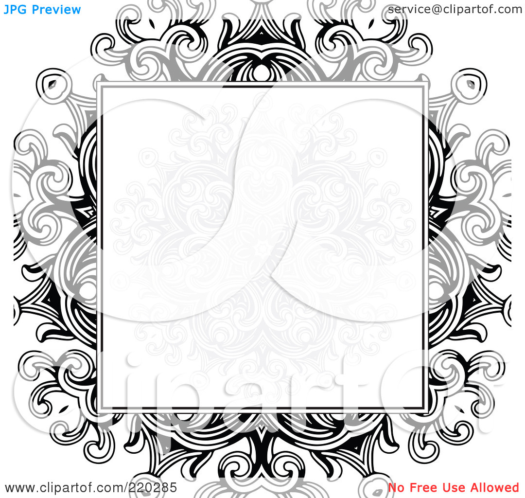 Royalty Free  Rf  Clipart Illustration Of A Formal Invitation Design