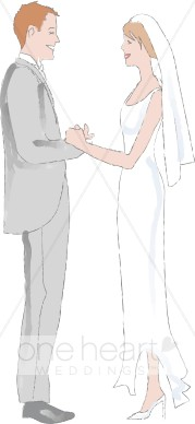 Semi Formal Wedding Clipart   Couples Clipart