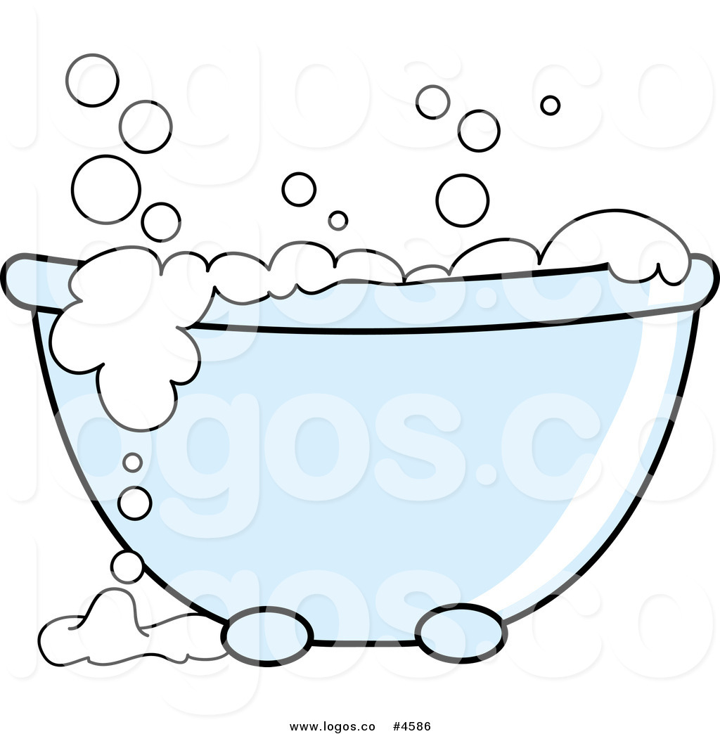 Soap Bubbles Clip Art Black And White Tub With White Bubbles Logo