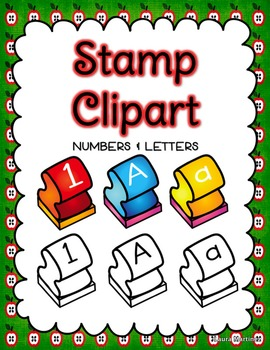 Stamp Clipart  Letters And Numbers   Teacherspayteachers Com