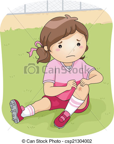Vector Clipart Of Football Injury   Illustration Of A Little Football