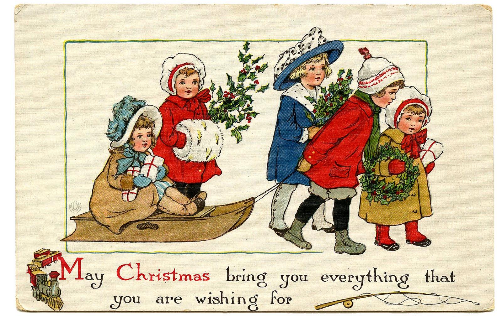 Vintage Christmas Clipart - Clipart Kid