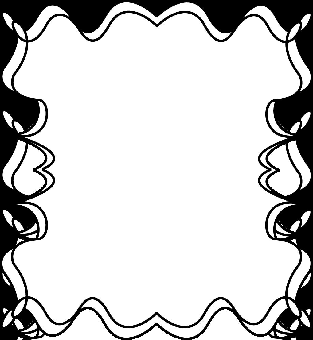 zag border frame full page black and white squiggly zig zag frame