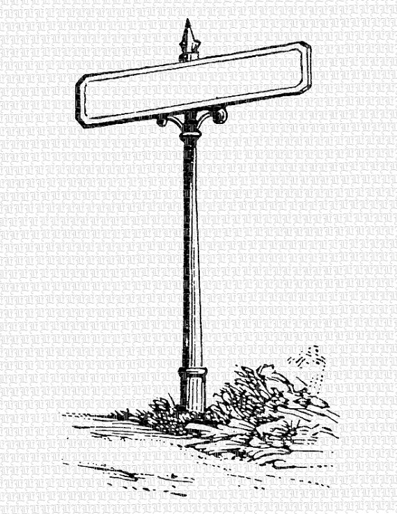 Vintage Street Sign Clipart - Clipart Kid
