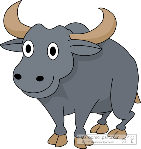 Cartoon Buffalo Clipart - Clipart Suggest